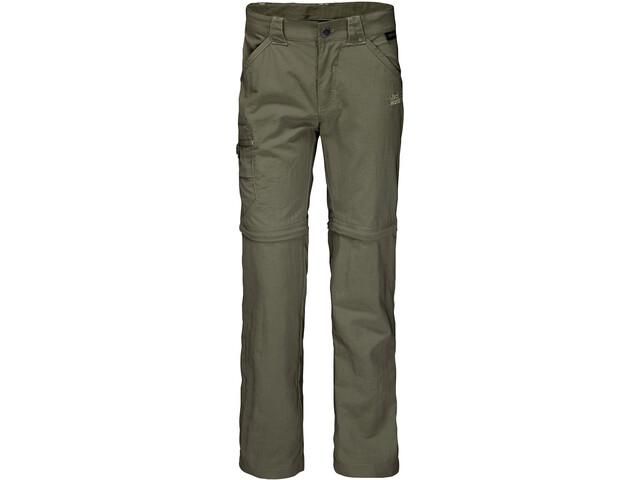 Jack Wolfskin Safari Spodnie z odpinanymi nogawkami Dzieci, woodland green